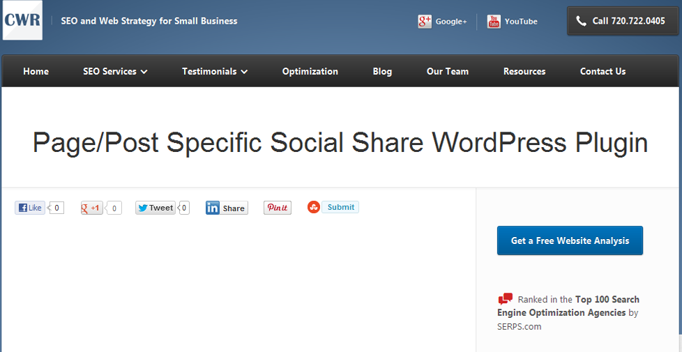 pagepost-specific-social-sharing plugin
