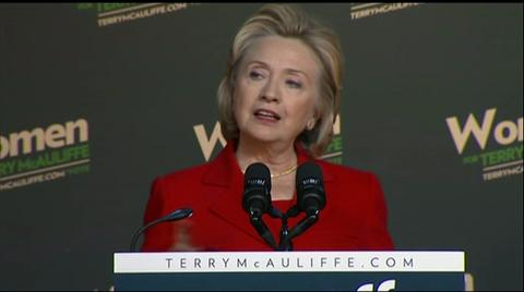 Hillary Clinton campaigns in Virginia for McAuliffe