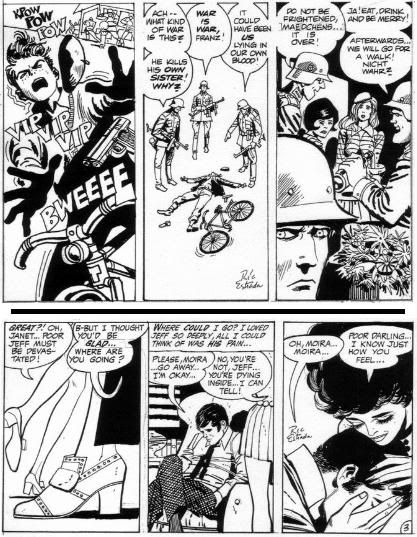 Samples of Estradas war and romance comics