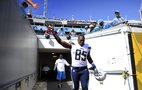 Chargers Antonio Gates takes the field against the Jaguars.