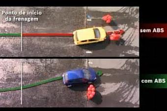 Você sabia que é diferente frear com freios ABS? - Instrutor de pilotagem explica que trepidação do pedal é normal e que motorista deve continuar pisando até a parada do veículo