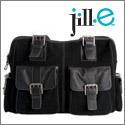 Jill-e large leather rolling camera bag