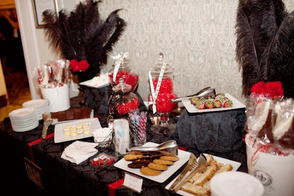 red-black-and-white-dessert-table