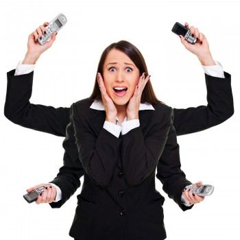 multitasking-businesswoman-work