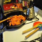 Cooking the carrots