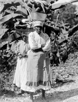 An early 20th-century photograph of two women in Jamaica