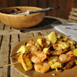 shrimp pineapple skewers