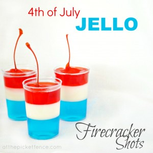 jello shot party, independence day, fun july fourth party