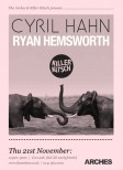Cyril Hahn at The Arches (Nov 2013) poster