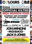 Kilties Ibiza Reunion at The Arches - Nov 2013 (poster)