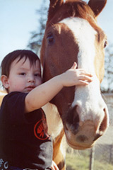 boy with horse