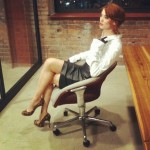 Model Kelly Kirstein for Whip Hand Cosmetics and How To Be A Redhead at The M@dison Building in Downtown Detroit.