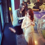 "Detroit Fashion Photographer Laur Nash Preps Model Kelly Kirstein On Set At The M@dison Building for Whip Hand Cosmetics ""How To Be A Redhead"" Shoot"