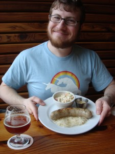Michael with Fort George bockwurst