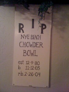 RIP Nye Beach Chowder Bowl
