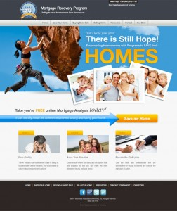 Eye Popping Color Landing Page Design