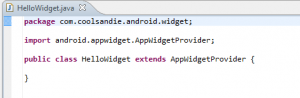 Beginner's Guide on Creating Widgets in android