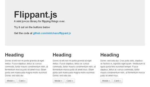 jQuery Library for Flipping Things - Flippant.js