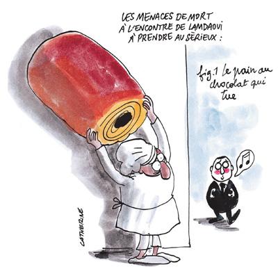 """Les gros caprices du conseiller de Hollande"" (Charlie Hebdo 04/12/13) 1114-15-Cath-Lamdaoui1"