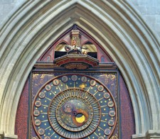 The famous Wells Cathedral clock