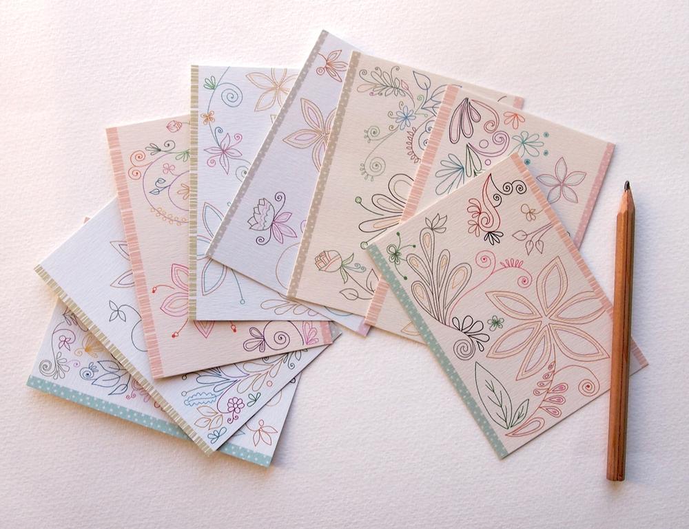 Image of Les mini cartes fleuries