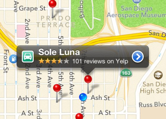 You may hate Apple Maps, but the Yelp integration is something�to�love