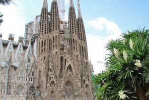 Gaudi's La Sagrada Familia in Barcelona, Spain