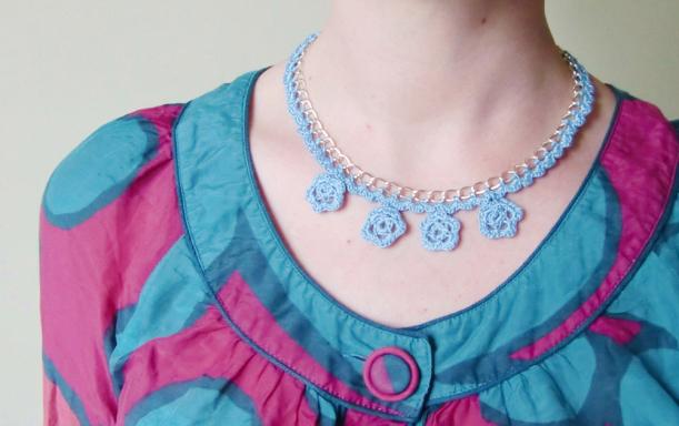 chiaki creates anchor freccia crochet necklace tutorial