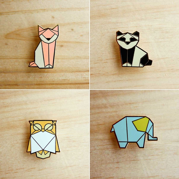 the little dröm store origami pins