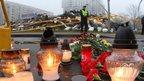 Scene of collapsed supermarket in Riga on 23 November 2013