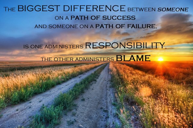 Responsibility and Blame Quote