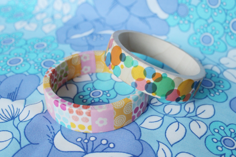 Chiaki Creates - DIY Washi Covered Bangle