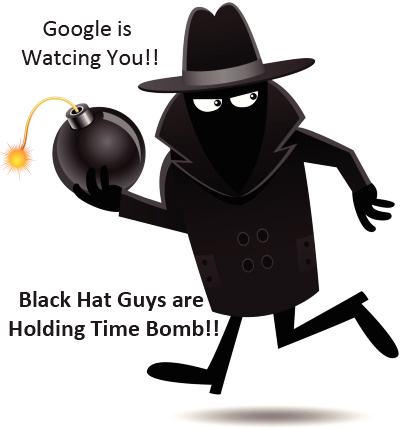 to get US search traffic visitors-black hat people are holding time bomb