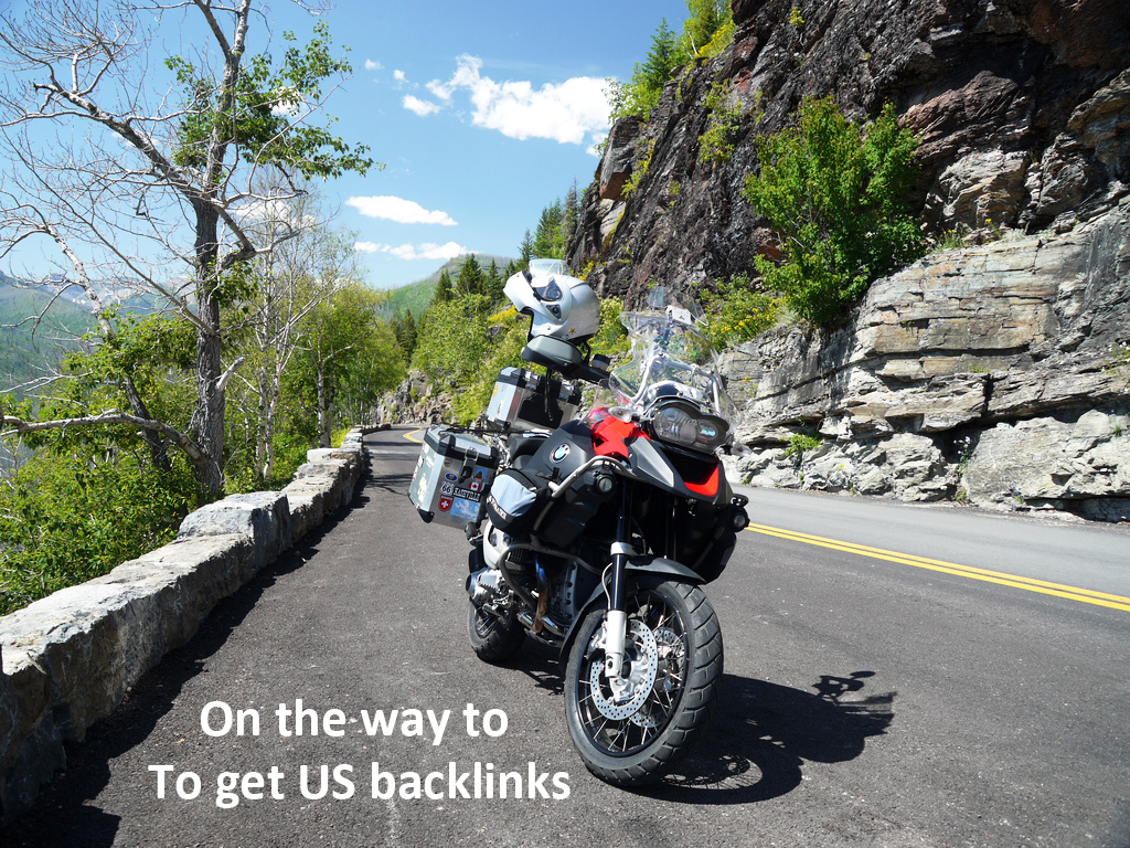 travelling to get backlinks from US visitors