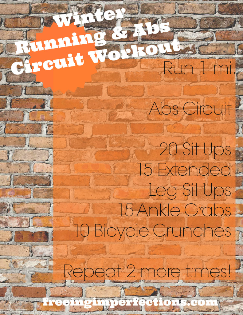 Winter Running & Abs Circuit Workout | FreeingImperfections.com