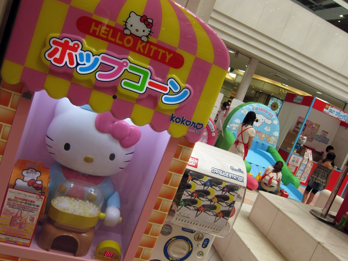 Hello Kitty appears on the most unexpected of products, like a popcorn machine.