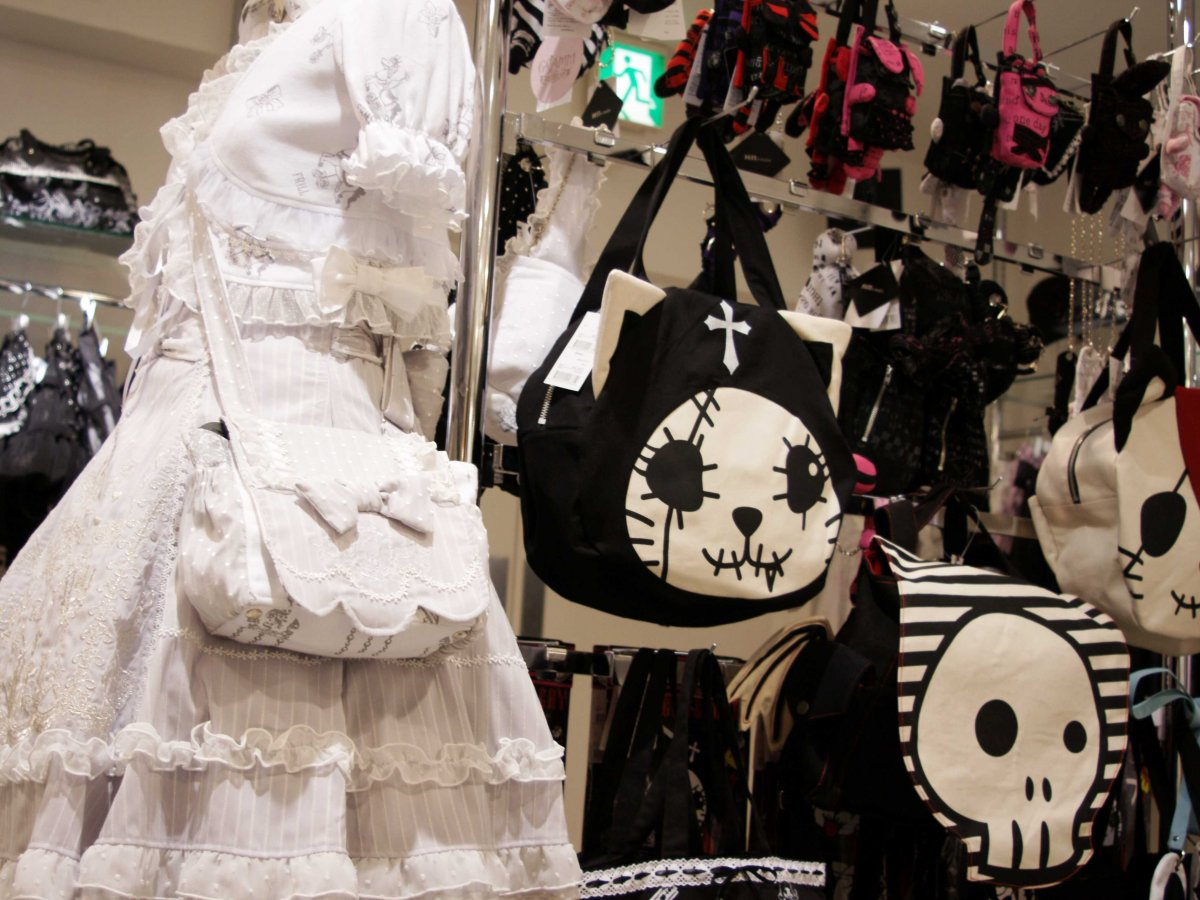 For Gothic Lolitas, h.NAOTO has a spooky cat brand, Hangry & Angry.