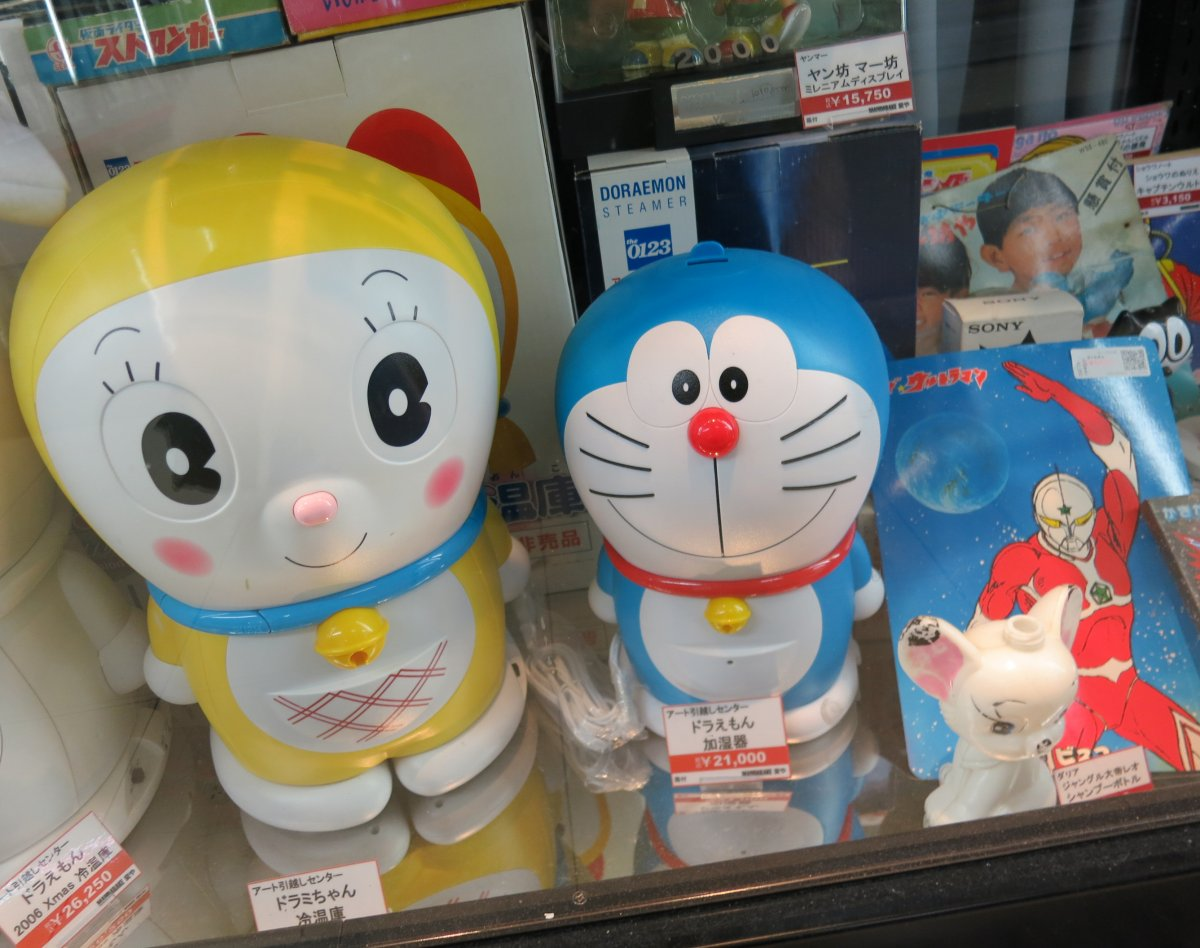 Earless robot cat Doraemon, who debuted in 1969, is another fan favorite.