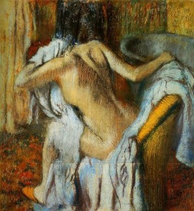 After the Bath, Woman Drying Herself (after Degas) - poem by D.B. Goman