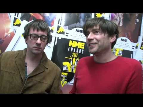 Blur's Alex James and Graham Coxon win 'Best Reissue' for Blur - 21 at the NME Awards 2013