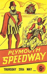 Plymouth Speedway Programme 1954.