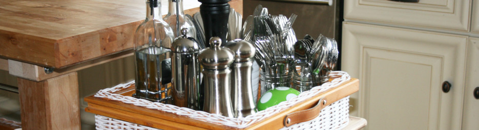 DIY project; a basket to organize my kitchen counter