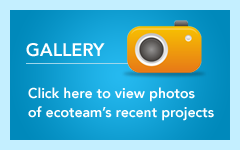Gallery - Click here to view photos of ecoteam's recent projects.