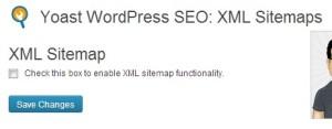 Yoast XML Sitemap button