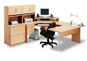 small u shaped desk