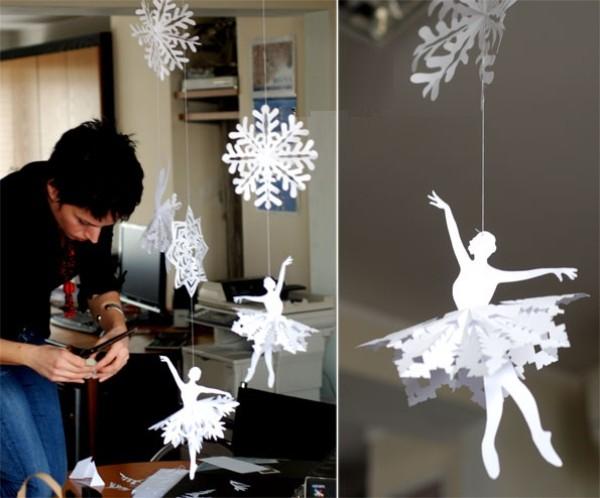 trang tri noel voi hoa tuyet kirigami tuyet dep3 Cách làm bông tuyết cho giáng sinh với phong cách Karigami