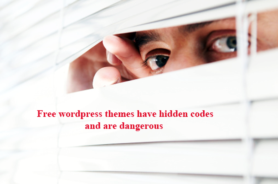 free wordpress themes have hidden and malicious codes