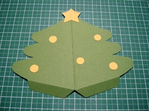 hoabtt20111189453548 41 Cách làm thiệp Giáng sinh hình cây thông Noel