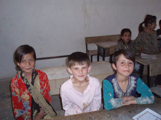 Evening school in Astana village