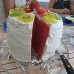 "healthy classroom birthday party idea watermelon ""cake"""